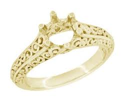 gold engagement ring settings yellow gold ring settings antique yellow gold ring mountings