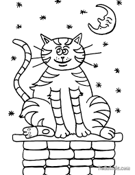 sleeping kitten coloring pages hellokids com