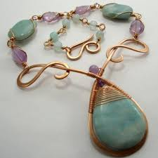 wire jewelry necklace images Abby hook 39 s mermaid 39 s teardrop necklace contemporary wire jewelry jpg