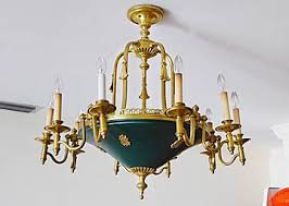 Italian Porcelain Chandelier Antique French Furniture Alhambra Antiques