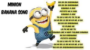 Minions Banana Meme - banana minions lyrics