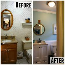 Bathroom Before And After by Before And After Half Bath Living In Yellow