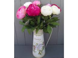 artificial peonies artificial peonies in jug vase permabloom