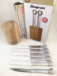 kitchen knives for sale cheap snap on tools 6 steak knife set wrench handle in wood