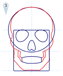 to draw skulls by