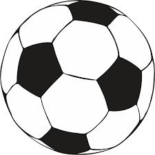 100 soccer ball black white clip art images