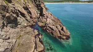 livadia rocks coastline bay beach and azure water nature best