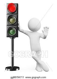 Traffic Light Clipart Drawing 3d White People Red Traffic Light Clipart Drawing