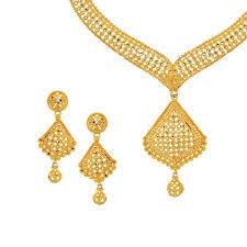 yellow gold necklace sets images Designer 22k gold necklace set raj jewels jpg