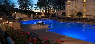 chateau elan inn pool at night