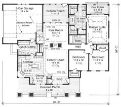 Single Story House Plans With 2 Master Suites Craftsman Style House Plan 3 Beds 2 00 Baths 1866 Sq Ft Plan 51 514