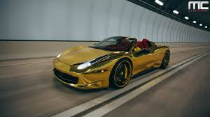 ferrari 458 custom mc customs gold ferrari 458 italia spider vellano wheels youtube
