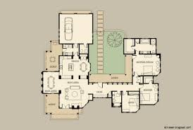 santa fe style home plans mexican hacienda house plans
