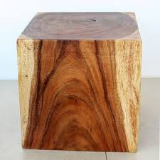 wood cube end table 297 99 wooden cube 18 walnut oil end table thailand overstock