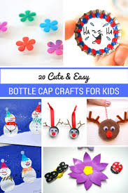 20 cute u0026 easy bottle cap crafts for kids