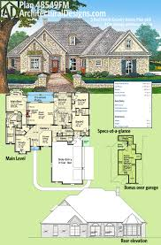 plan 48549fm 3 bed french country house plan with 3 car garage