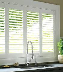 Wooden Plantation Blinds Cost Of Plantation Shutters Woven Taupe Cordless Decorative Room
