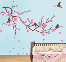 easy cherry blossom wall decor ideas decor trends image of cherry blossom tree wall decal