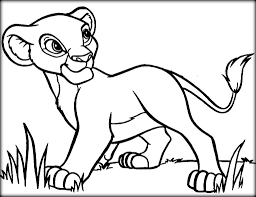 simba face coloring page virtren com