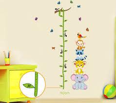 stickers chambre bébé mixte stickers murale mesure bébé des objets insolites et cadeaux originaux