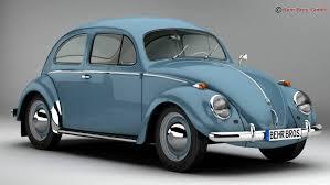 volkswagen beetle 1963 1200 deluxe 3d model in classic cars 3dexport