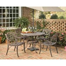 Aluminum Patio Furniture Set - home styles biscayne black cast aluminum patio dining set seats