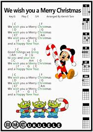 圍威喂 ukulele we wish you a merry ukulele tab