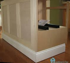 Homemade Kitchen Island Plans by Kitchen Island Trim How To Add Moulding To A Kitchen Island