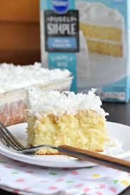 coconut cream poke cake shugary sweets