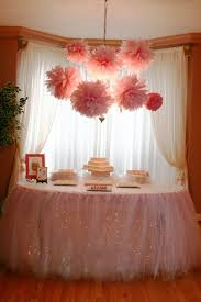 how to use tulle to decorate a table snippets table tutu for my niece s shower 70 yards of tulle