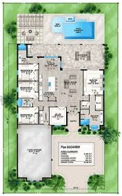 front to back split level house plans coastal florida mediterranean house plan 75965 level one dads
