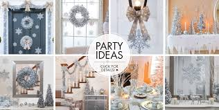 silver party favors winter theme party winter decorations