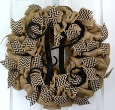 royal blue chevron burlap monogram wreath lots of colors