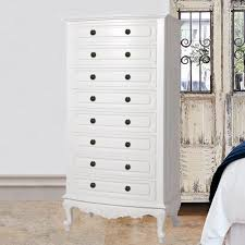 White Bedroom Tallboy Baroque French Provincial 8 Drawer Tall Boy Chest Of Drawers