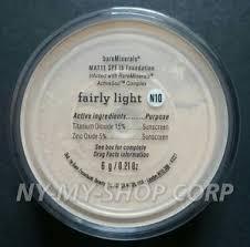 bareminerals spf 15 foundation fairly light bare escentuals bareminerals fairly light matte n10 6g xl foundation