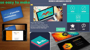 business card maker creator how to make business card and more