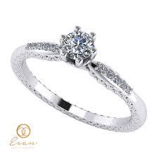 inele logodna aur alb inel de logodna din aur alb cu diamante es107 esan
