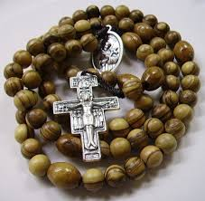wooden rosary handmade wooden franciscan crown rosary