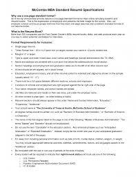 Mccombs Resume Template Finance Resume Sample Banking Format Naukri Com Mccombs Template