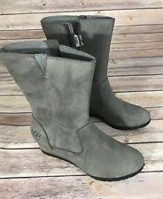 womens gray boots size 11 ugg australia leather size 11 boots for ebay