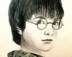 harry potter drawing etsy