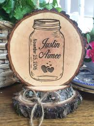 wedding cake jars jar wedding cake topper rustic cake topper engraved topper