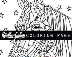 horse coloring book etsy