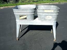 galvanized tub planter pottery barn pottery barn galvanized trough