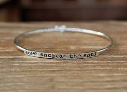 Customized Name Bracelets Armored Stackers Bangle Bracelet Hope Anchors The Soul Sterling