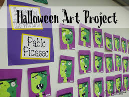 3rd grade halloween craft ideas halloween art project picasso u0027s frankenstein 2nd grade art
