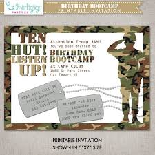 40 best army invitations images on pinterest birthday party