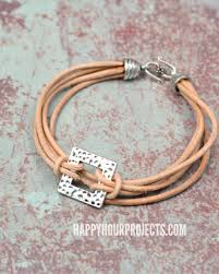 leather bracelet jewelry images Layers of leather pewter diy leather bracelet happy hour jpg