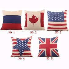 canapé angleterre comwarm bloc couleur géométrique drapeaux série de drapeau canada