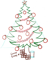 how to draw a christmas tree with gifts u0026 presents under it how